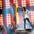Steven Tyler, vocalista da banda Aerosmith, foi um dos jurados do Miss Universo 2013