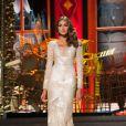 Gabriela Isler, a Miss Venezuela, em traje de gala