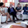Mario Teixeira, autor da novela 'Liberdade, Liberdade', afirmou sobre o sexo entre André (Caio Blat) e Tolentino (Ricardo Pereira), no 'Encontro com Fátima Bernardes': 'Acho que é uma quebra de tabu, mas já veio tarde'