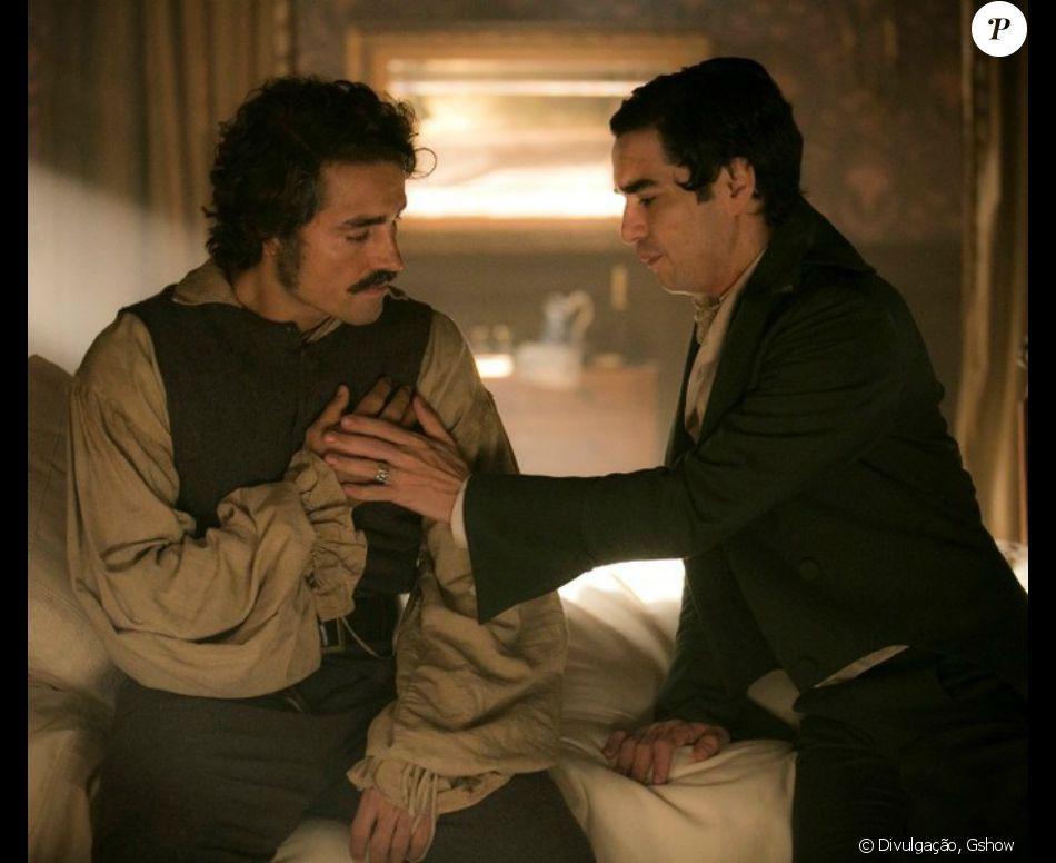 Autor de 'Liberdade Liberdade' afirma que cena de sexo entre André (Caio Blat) e Tolentino (Ricardo Pereira) na novela 'Liberdade, Liberdade' será cuidadosa e com a função de quebrar tabu