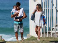Deborah Secco e o marido, Hugo Moura, levam a filha, Maria Flor, à praia. Fotos!