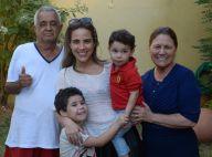 Wanessa Camargo visita avós com filhos e o marido em meio a rumores de crise