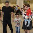 Wanessa Camargo desembarcou com os filhos e Marcos Buaiz em Goiânia nesta segunda-feira, 11 de julho de 2016