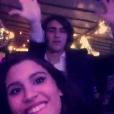 Giulia Costa se diverte com amigos de 'Malhação' em festa de aniversário de Nego do Borel, no Rio, nesta terça-feira, 12 de julho de 2016