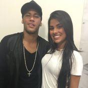 Munik, campeã do 'BBB16', tieta Neymar em show de Thiaguinho: 'Ídolo'