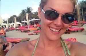 Ana Hickmann viaja para Dubai com o marido e posta foto de biquíni