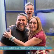 Susana Vieira se reencontra com ator da 1ª versão de 'Anjo Mau': 'Meu bebê'