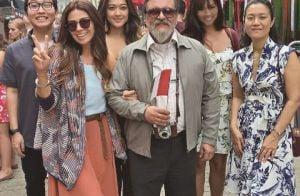 Giovanna Antonelli e Carol Nakamura gravam juntas cenas da novela 'Sol Nascente'