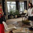 Mariah (Lúcia Veríssimo) contraria Aline (Vanessa Giácomo) e tenta fazer com que Paloma (Paolla Oliveira) se reconcilie com o marido, em 'Amor à Vida'