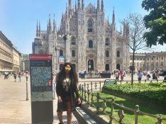 Ludmilla viaja para Itália, vai a show de Beyoncé e compra tênis de R$ 6 mil
