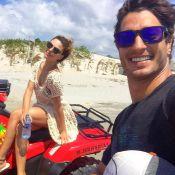 Isis Valverde e o namorado, André Resende, curtem viagem no Ceará. Fotos!