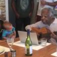 Gilberto Gil emocionou a filha Preta Gil e o neto Francisco com a homenagem à bisneta, Sol de Maria