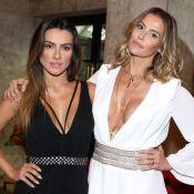 Cleo Pires e Deborah Secco apostam em looks decotados em evento. Fotos!