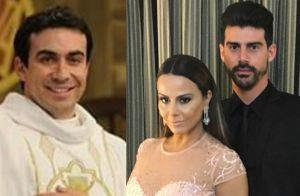 Viviane Araujo e Radamés terão casamento celebrado pelo Padre Fábio de Melo