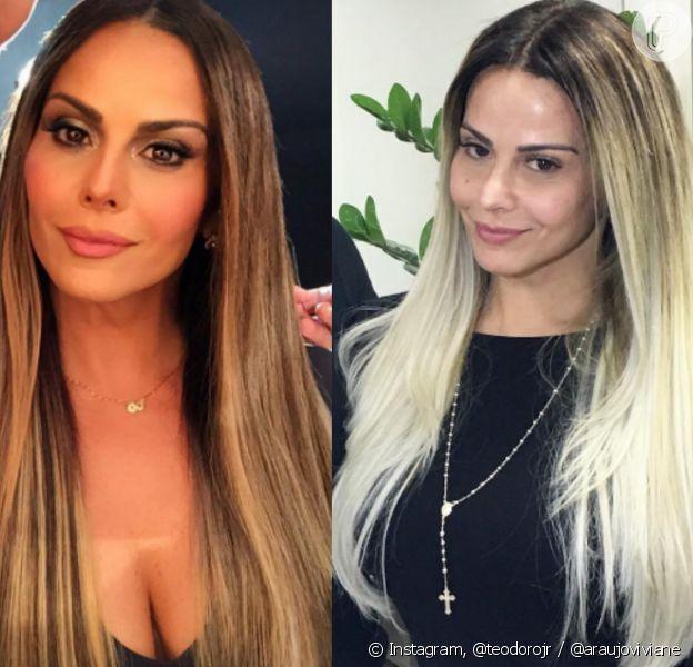 Viviane Araujo muda o visual e exibe cabelo platinado, na noite desta quinta-feira, 28 de julho de 2016