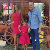 Rafaella Justus comemora 7 anos com Ticiane Pinheiro e Roberto Justus, em SP