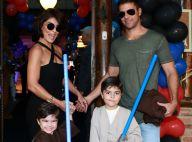 Juliana Paes recebe Deborah Secco no aniversário de 3 anos do filho Antonio