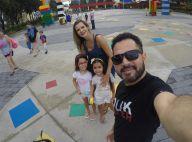 Luciano Camargo curte viagem com mulher, Flávia, e filhas: 'Com elas'. Fotos!
