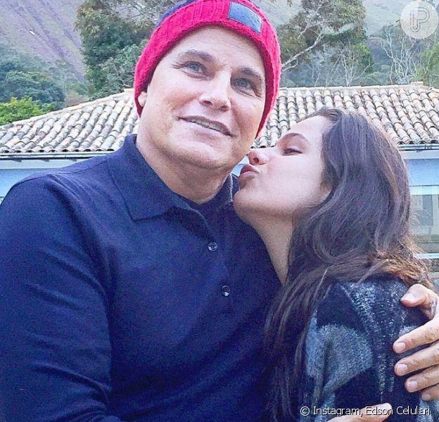Edson Celulari, na foto com a filha, Sophia, de 13 anos, segue o tratamento contra o câncer até novembro de 2016
