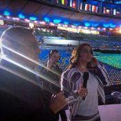 Anitta ensaia abertura de Olímpiada com Caetano Veloso e Gilberto Gil: 'Emoção'