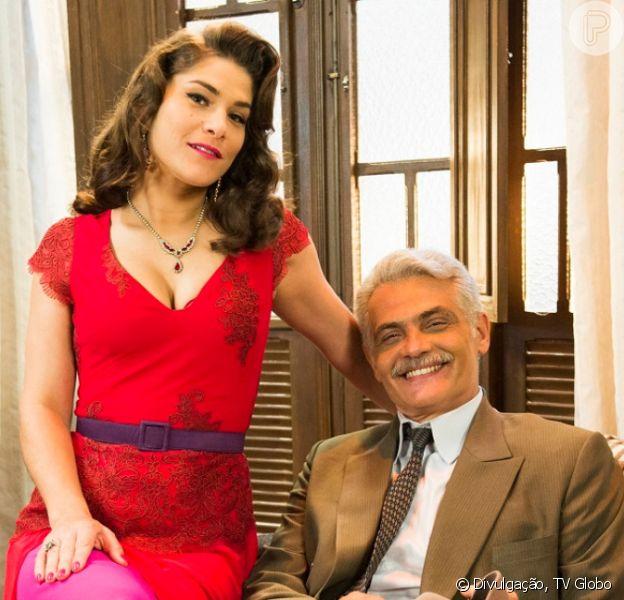 Na reta final da novela 'Êta Mundo Bom!', Severo (Tarcisio Filho) finalmente se acerta com Diana (Priscila Fantin)