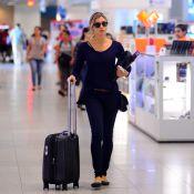 Grazi Massafera aposta em look discreto para embarcar em aeroporto do Rio. Fotos