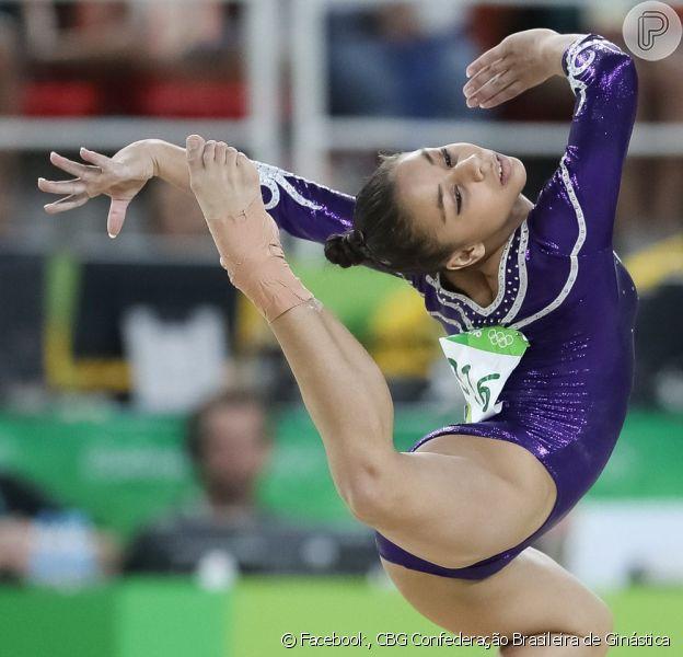 Flavinha Saraiva foi destaque na ginástica artística brasileira durante competição da Olimpíada Rio 2016, em 7 de agosto de 2016
