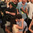 Há três anos, o casal veio ao Rio gravar cenas do filme 'Amanhecer: Parte 1'. O longa teve locações em várias partes da cidade, inclusive na Lapa, no Centro