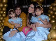 Natália Guimarães e Leandro festejam aniversário de 3 anos das filhas gêmeas