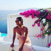 Juliana Paes encerra viagem à Grécia com vestido decotado: 'Santorini, tchau'