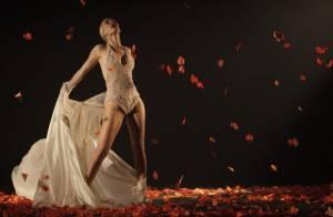 'Joia Rara': Aurora (Mariana Ximenes) levita no palco, em novo show no cabaré