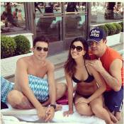 Mariana Rios curte último dia do ano em piscina de hotel com o noivo, Di Ferrero