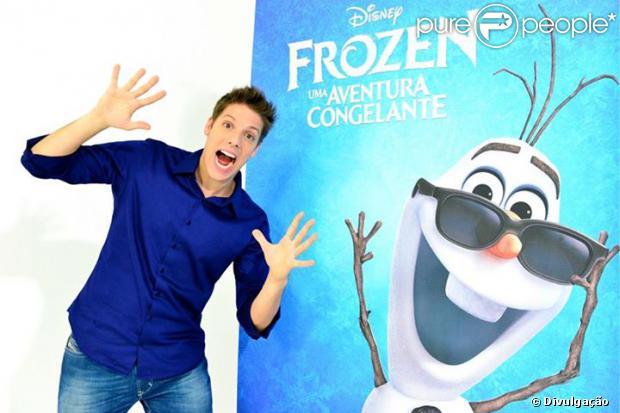 Fábio Porchat estreia como dublador em 'Frozen - Uma Aventura Congelante', em 09 de dezembro de 2013