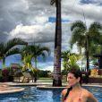 Poucos dias antes de seu aniversário, Cristiana Oliveira fez uma viagem para Caldas Novas, em Goiás