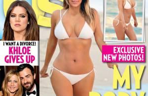 Kim Kardashian aparece de biquíni pela 1ª vez após o nascimento de North West