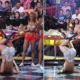 No programa 'Pânico na Band', Sabrina Sato sempre foi um show a parte e certa vez dançou o 'quadradinho de 8', fazendo a alegria da plateia