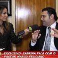No programa 'Pânico na Band', Sabrina Sato fez uma entrevista polêmica com o deputado Pastor Marcos Feliciano