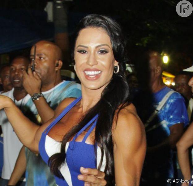Gracyanne Barbosa vai ter que pagar R$ 500 mil por exigência da Portela para ser a rainha de bateria da escola no Carnaval 2017