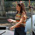 Ingrid Guimarães caminhou pelos bastidores de filme 'Fala Sério, Mãe' nesta segunda-feira, 24 de outubro de 2016