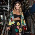 A blogueira de moda Thássia Naves com look PatBO no SPFW