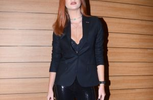 Marina Ruy Barbosa usa look total black com lingerie à mostra em evento. Fotos!