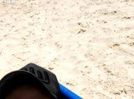 Wesley Safadão vai à praia com a mulher, Thyane, e filha, Ysis. Veja vídeo!