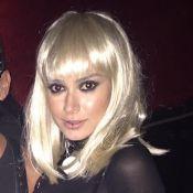 Thaila Ayala usa fantasia sexy e peruca em festa com tema fetiche em NY. Fotos!