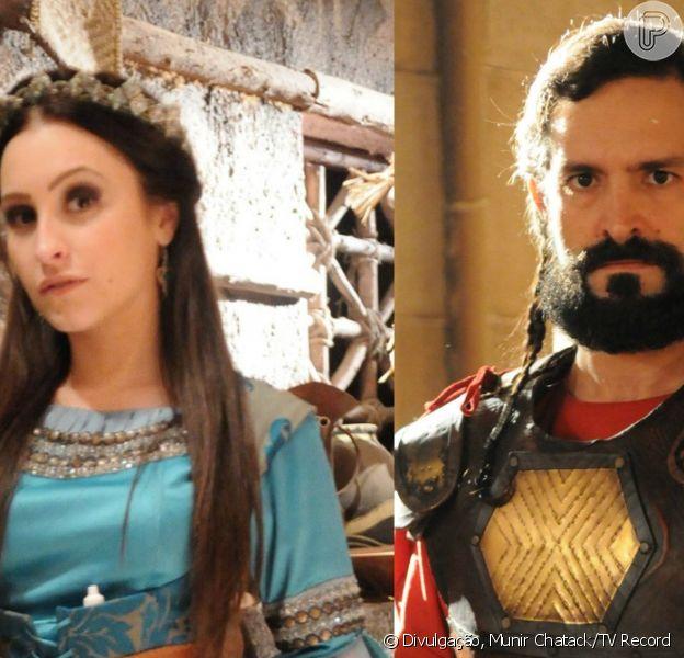 Melina (Carla Diaz) evita se casar com Yussuf (Iran Malfitano) ao trocar de lugar com Najara (Cássia Sanches), nos próximos capítulos da novela 'A Terra Prometida'