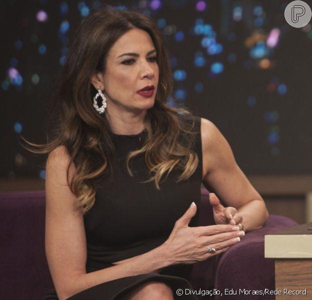 Luciana Gimenez contou no 'Programa do Porchat' desta quinta-feira, 3 de outubro de 2016, que recusou oferta milionária para falar de Mick Jagger