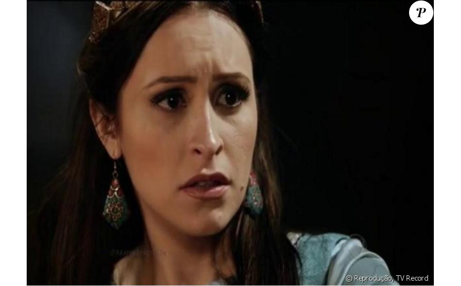Melina (Carla Diaz) se casa com Yussuf (Iran Malfitano) após ser capturada pelo exército de Ai, nos próximos capítulos da novela 'A Terra Prometida'