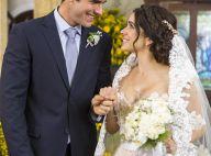 Elenco de 'Haja Coração' grava cenas de casamento do casal 'Shirlipe'. Fotos!