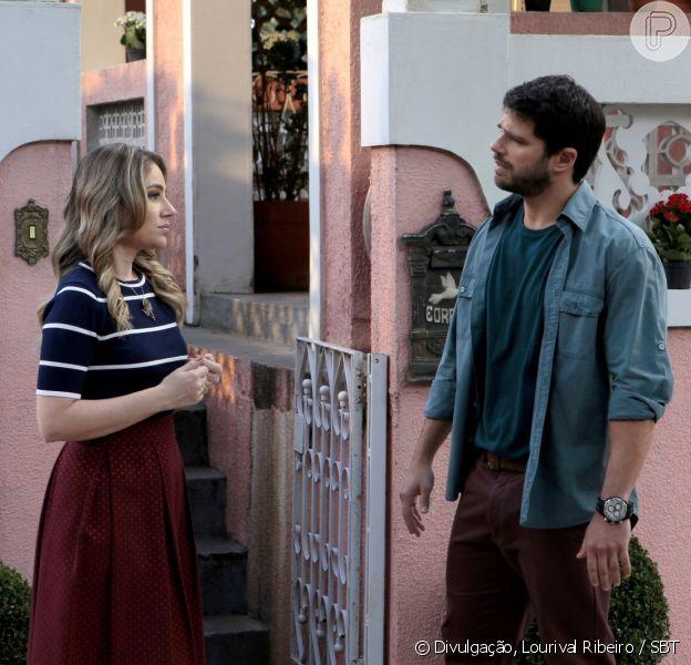 Depois de ver a foto de Otávio (Duda Nagle) beijando Paola (Juliana Baroni), Rebeca (Juliana Baroni) termina o noivado com o rapaz, no capítulo que vai ao ar segunda-feira, dia 14 de novembro de 2016, na novela 'Cúmplices de um Resgate'
