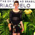 Sophia Abrahão comemorou a mudança no corpo após o 'Dança dos Famosos', quadro do 'Domingão do Faustão', nesta quarta-feira, 9 de novembro de 2016
