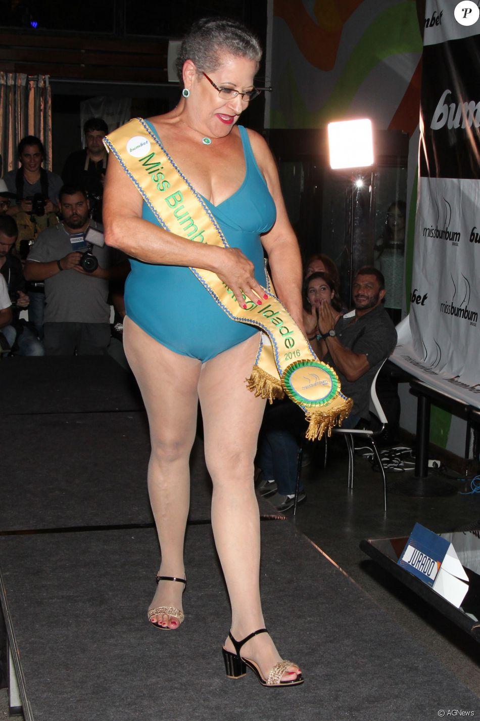 Dona Geralda venceu o concurso Miss Bumbum Melhor Idade na noite desta quarta, 9 de novembro de 2016, em São Paulo
